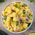 Ананасовая сальса к картофелю