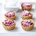Мини десерт с малиной в корзинках без выпечки