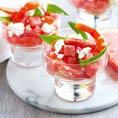 Необычный салат с креветками и арбузом от Джейми Оливера