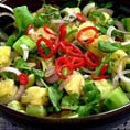 Китайский салат из огурца и ананаса