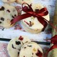 Песочное печенье с фруктами и орехами