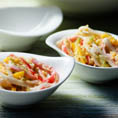 Японский пряный салат из крабовых палочек