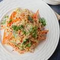 Холодная рисовая лапша салат в арахисовом соусе