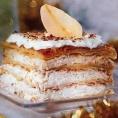 Торт Наполеон с сыром и грушами