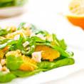 Апельсиновый салат со шпинатом