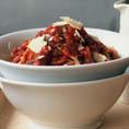Спагетти c фасолью Болонье (вегетарианское)